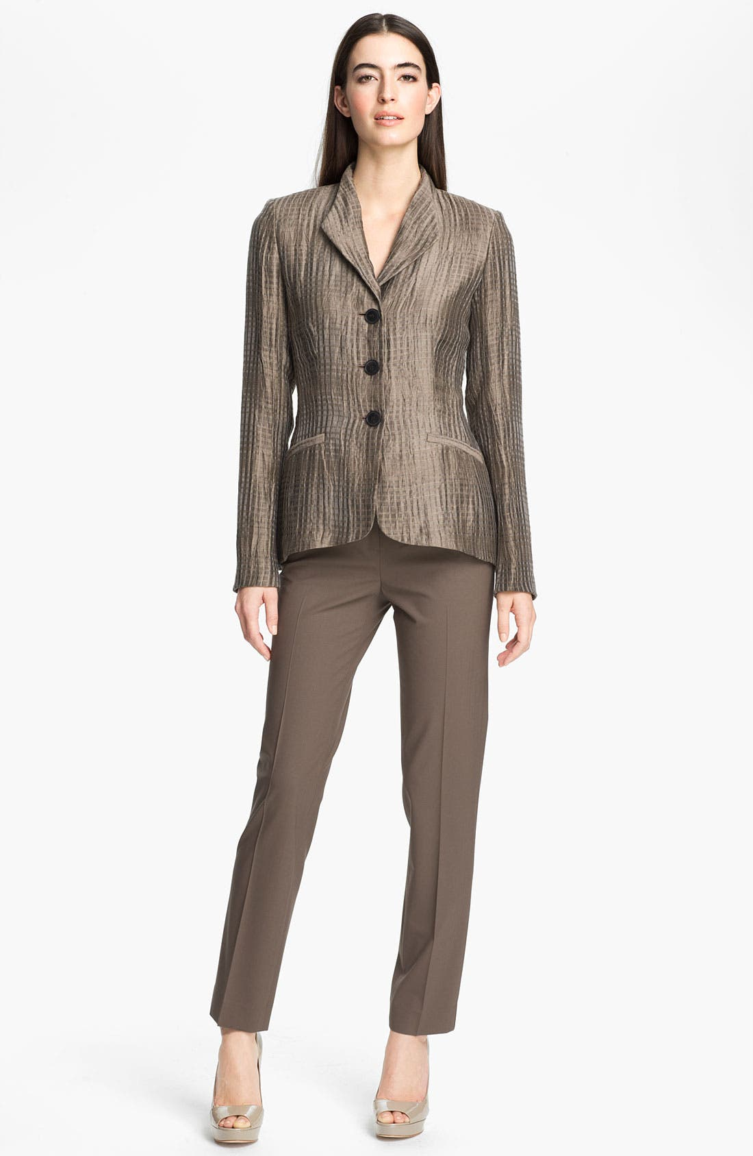 Alternate Image 4  - Lafayette 148 New York 'Beau - Thatched Linen' Jacket