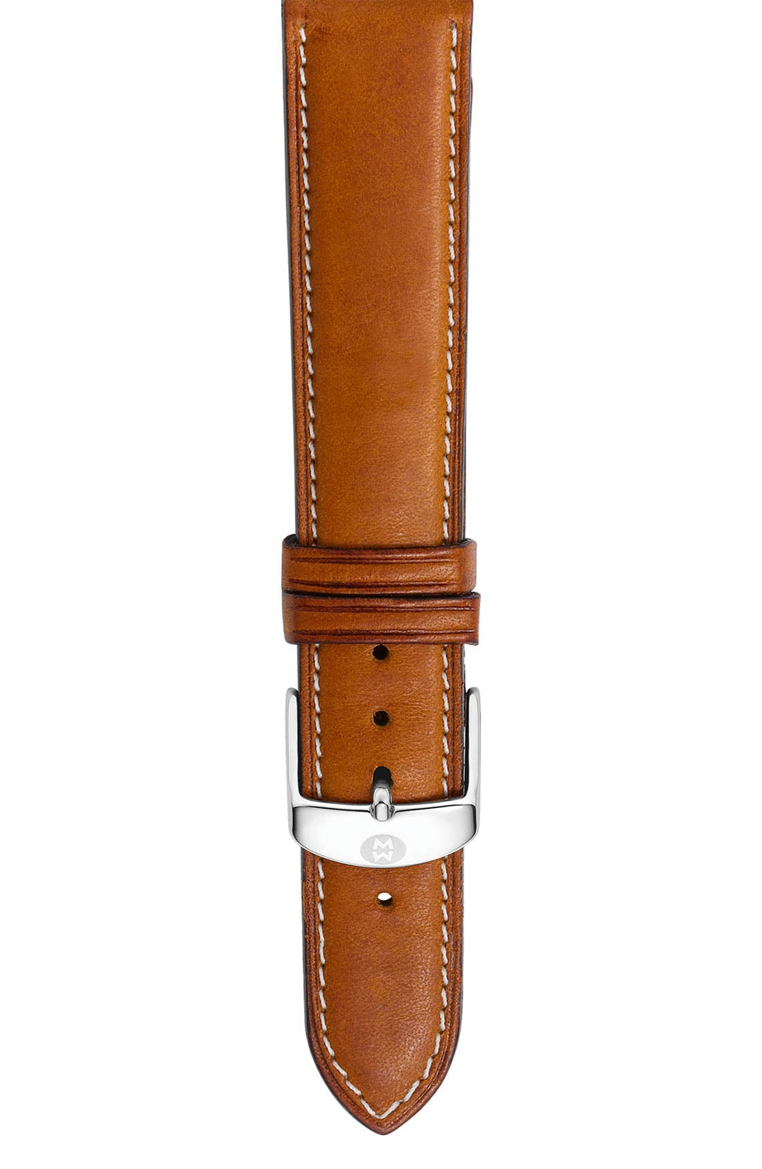 Alternate Image 1 Selected - MICHELE 16mm Calfskin Leather Watch Strap