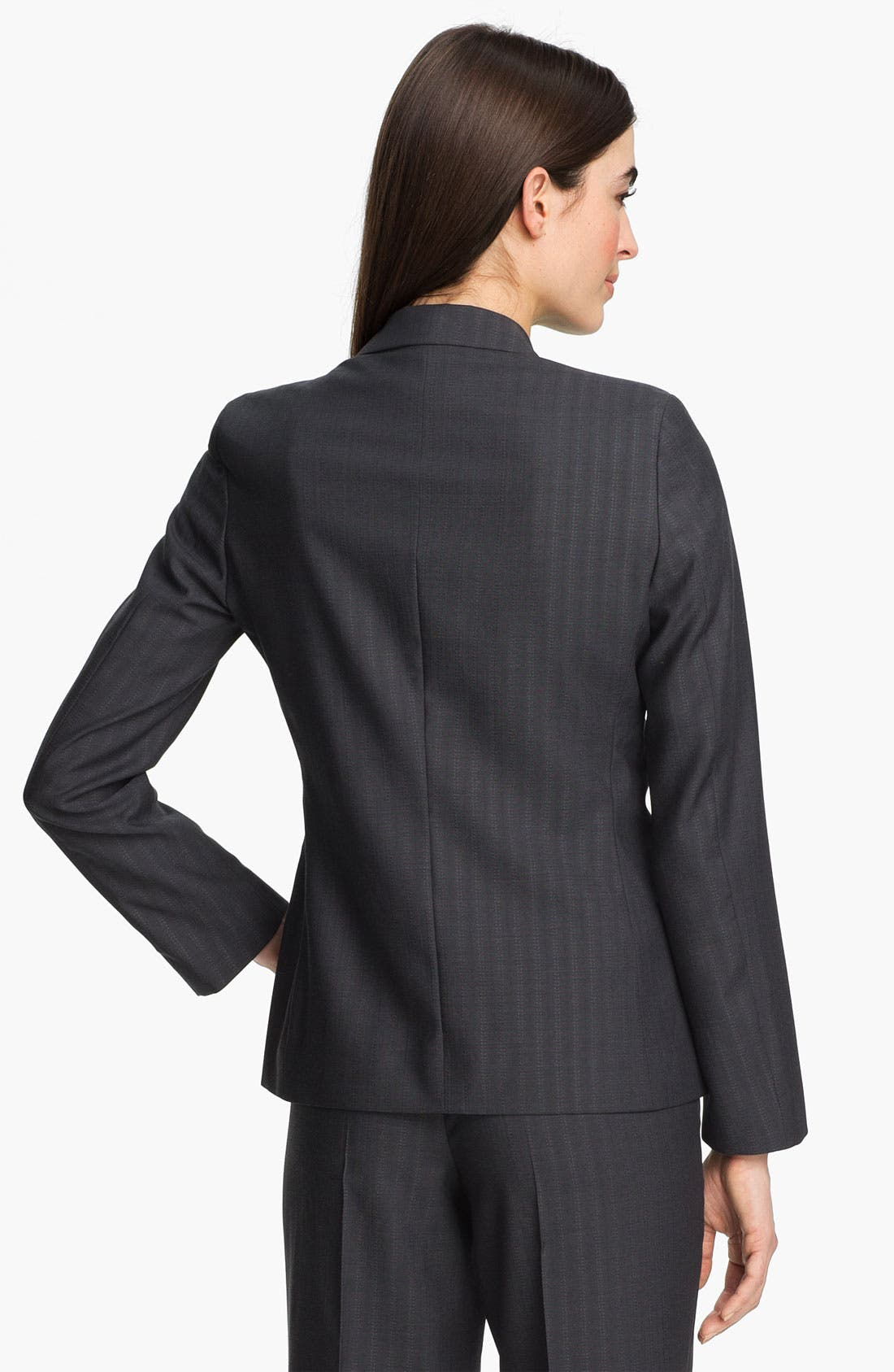 Alternate Image 2  - Zanella 'Tracy' Tonal Stripe Virgin Wool Jacket