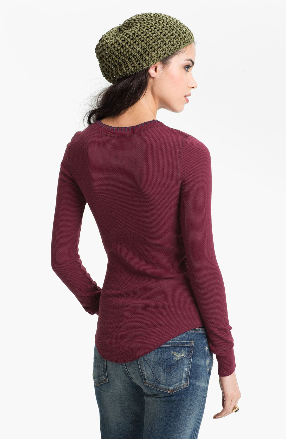 Alternate Image 2  - Free People Embroidered Henley