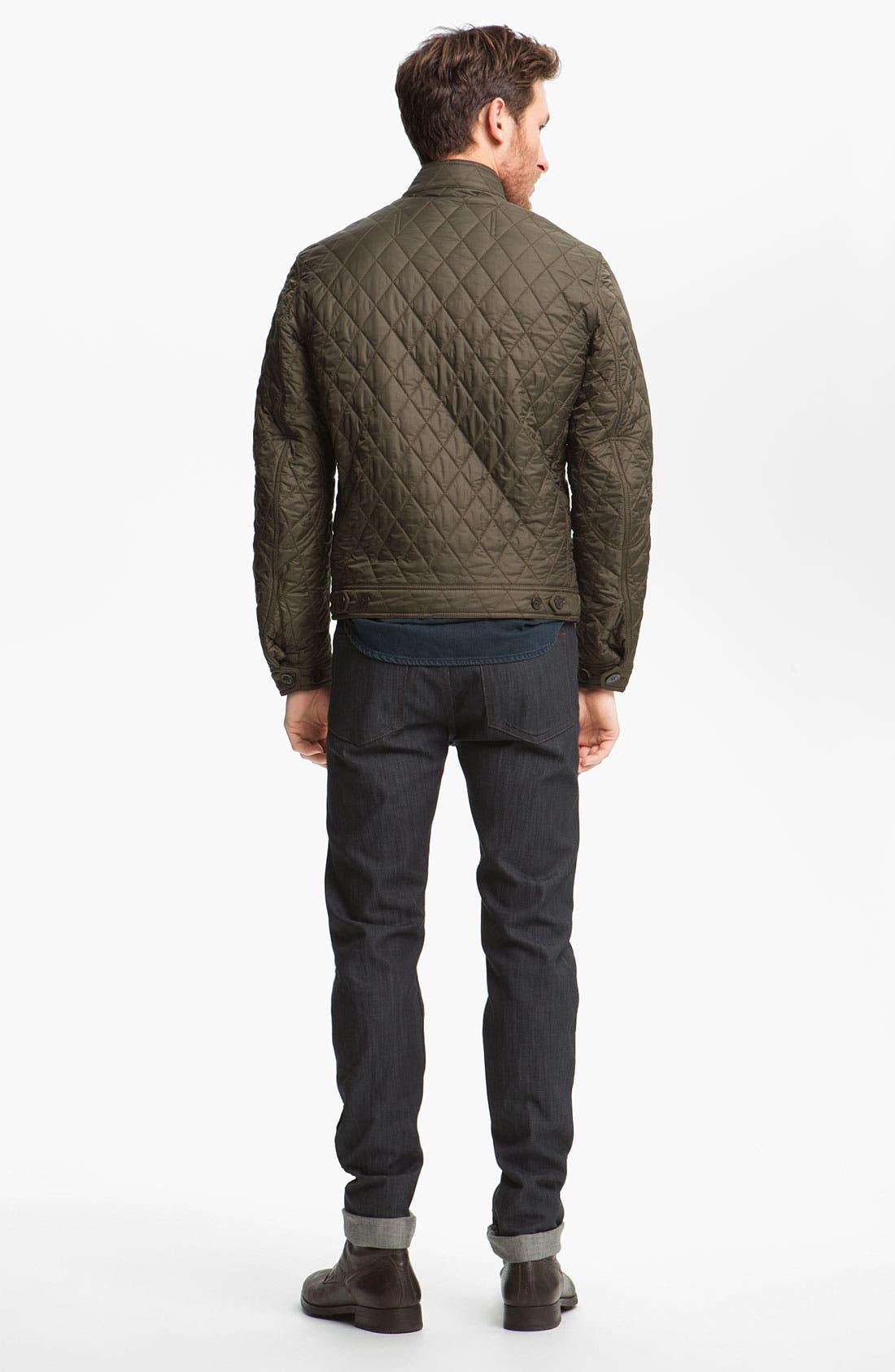 Alternate Image 6  - Burberry Brit 'Cavendish' Resin Washed Denim Jeans (Indigo Blue)