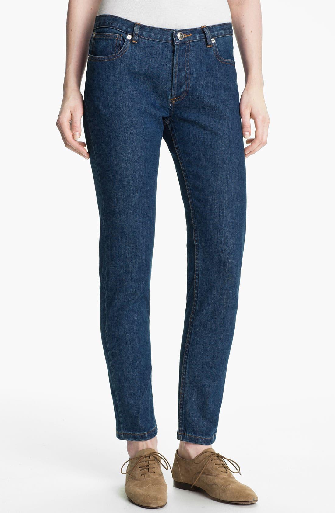 Alternate Image 1 Selected - A.P.C. Slim Leg Crop Jeans