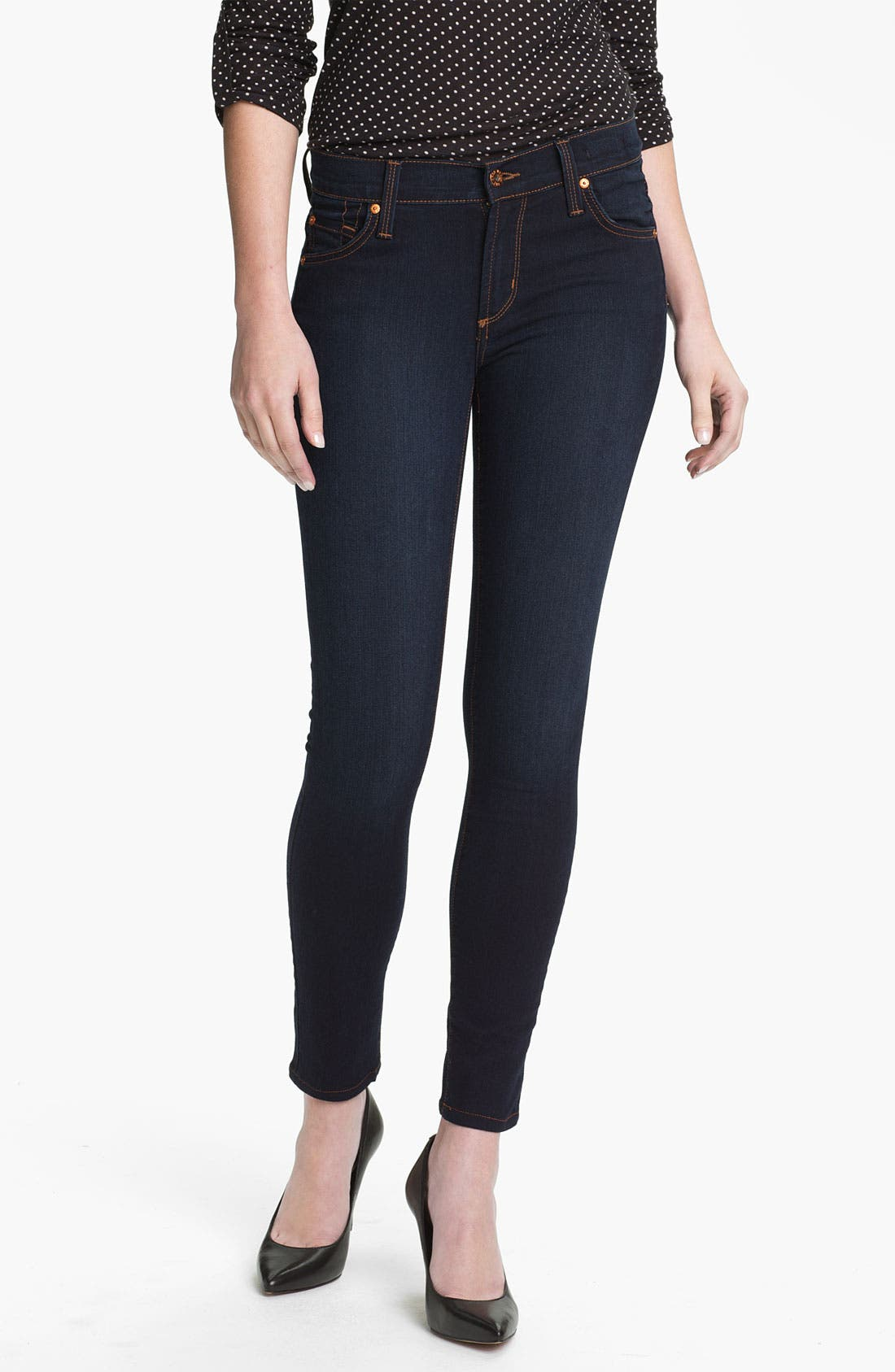 Alternate Image 1 Selected - James Jeans Stretch Denim Leggings (Petite) (Online Only)
