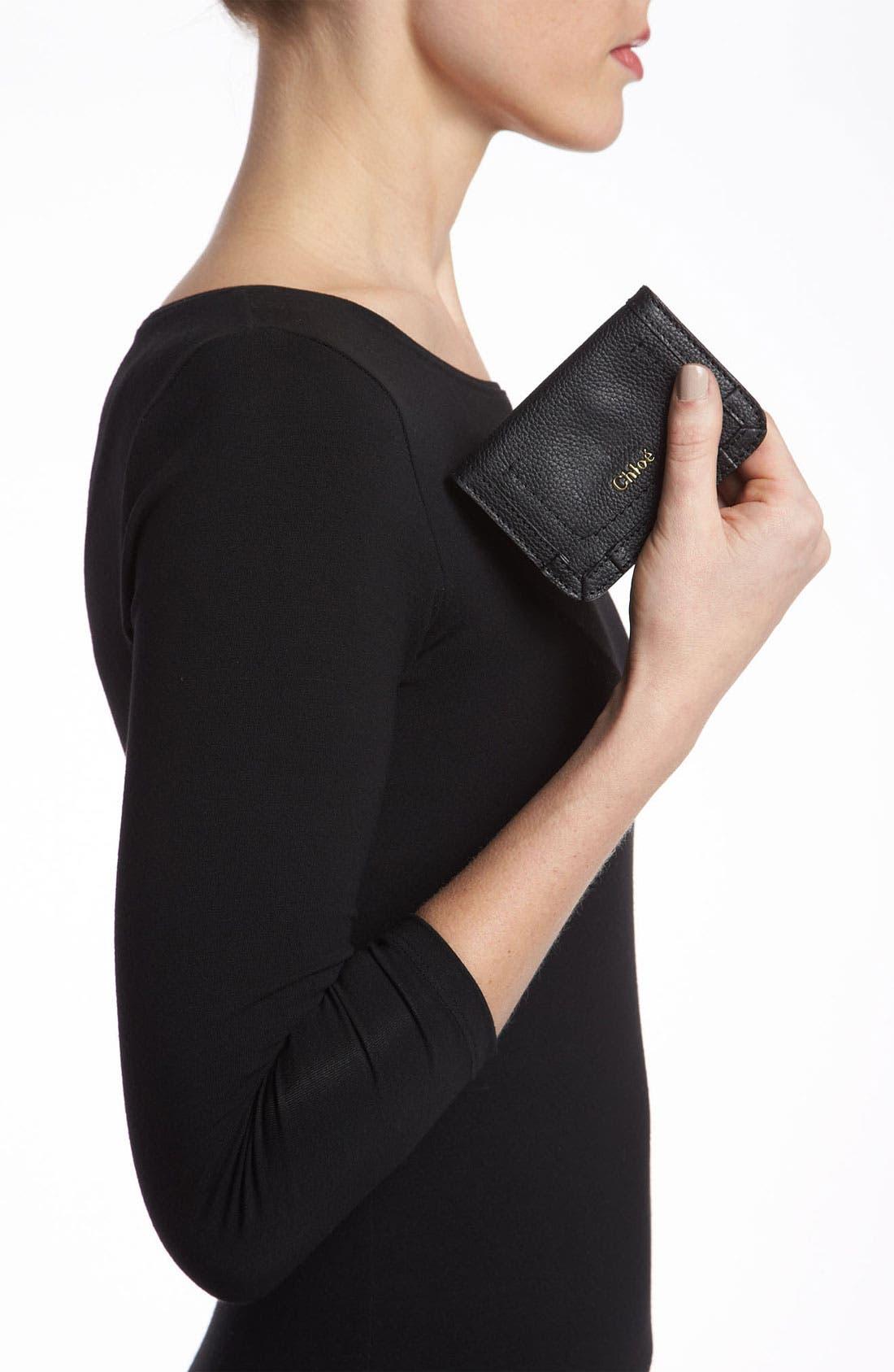Alternate Image 2  - Chloé 'Paraty' Leather Card Holder