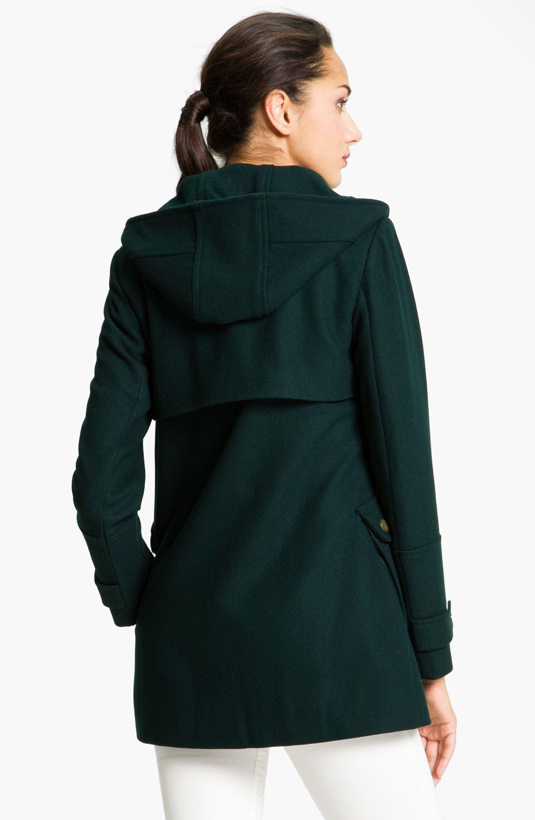 Alternate Image 2  - Vince Camuto Wool Blend Jacket with Detachable Hood (Petite)