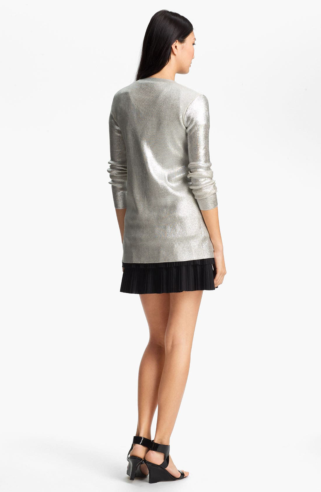 Alternate Image 4  - Robert Rodriguez Silver Laminated Cardigan