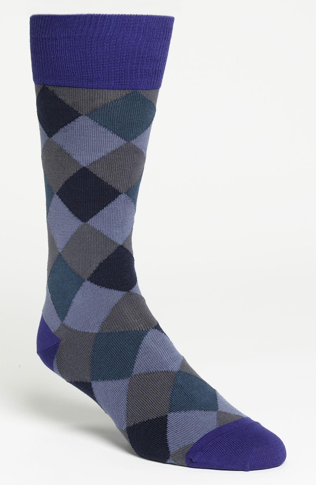 Main Image - Paul Smith Accessories Harlequin Diamond Socks