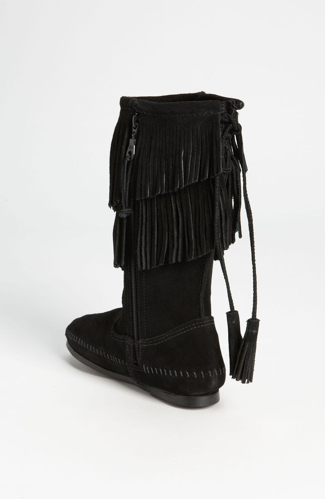 Alternate Image 2  - Minnetonka Two Layer Fringed Boot