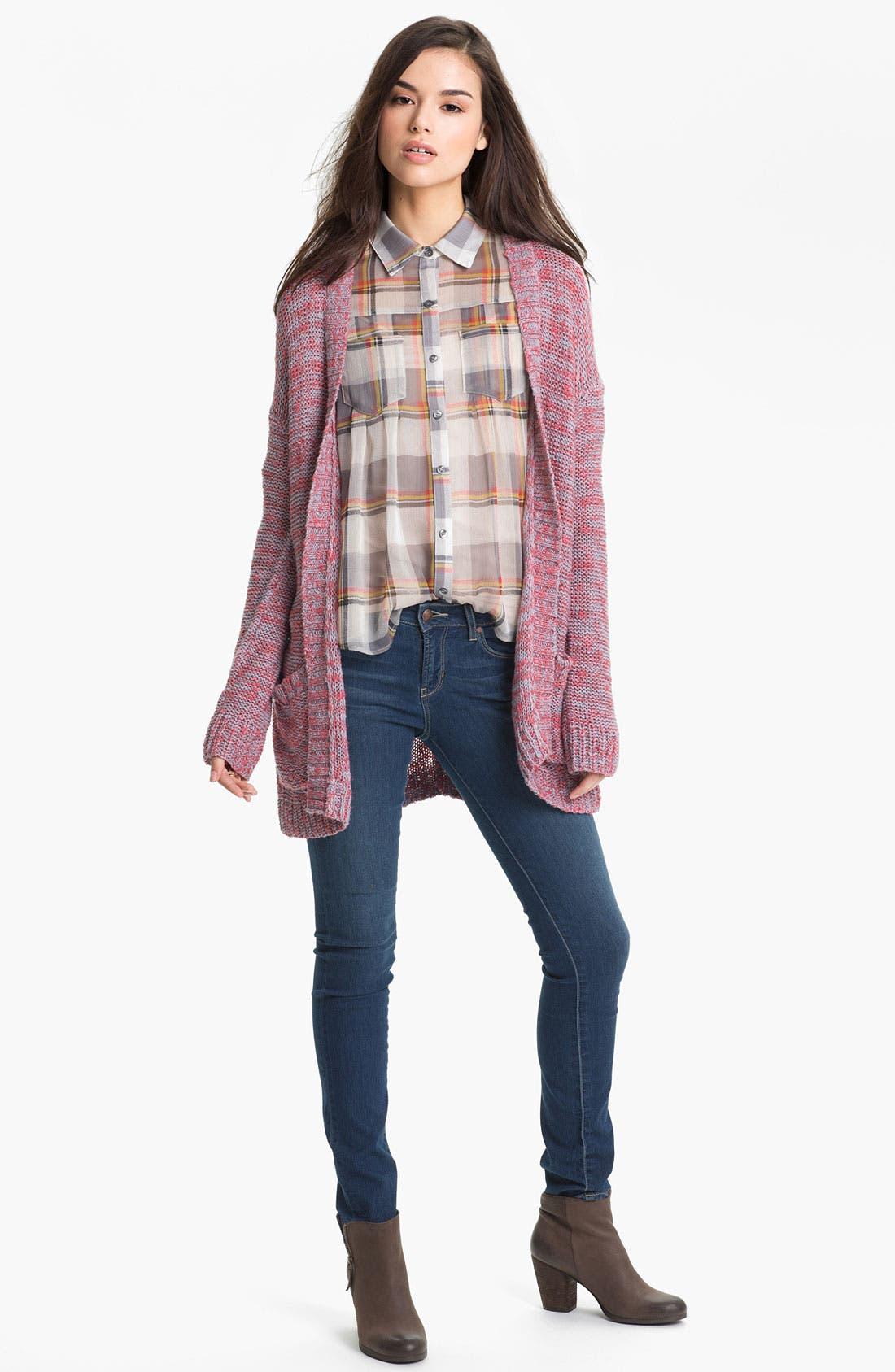 Alternate Image 3  - Articles of Society 'Mya' Skinny Jeans (Atlantic) (Juniors)