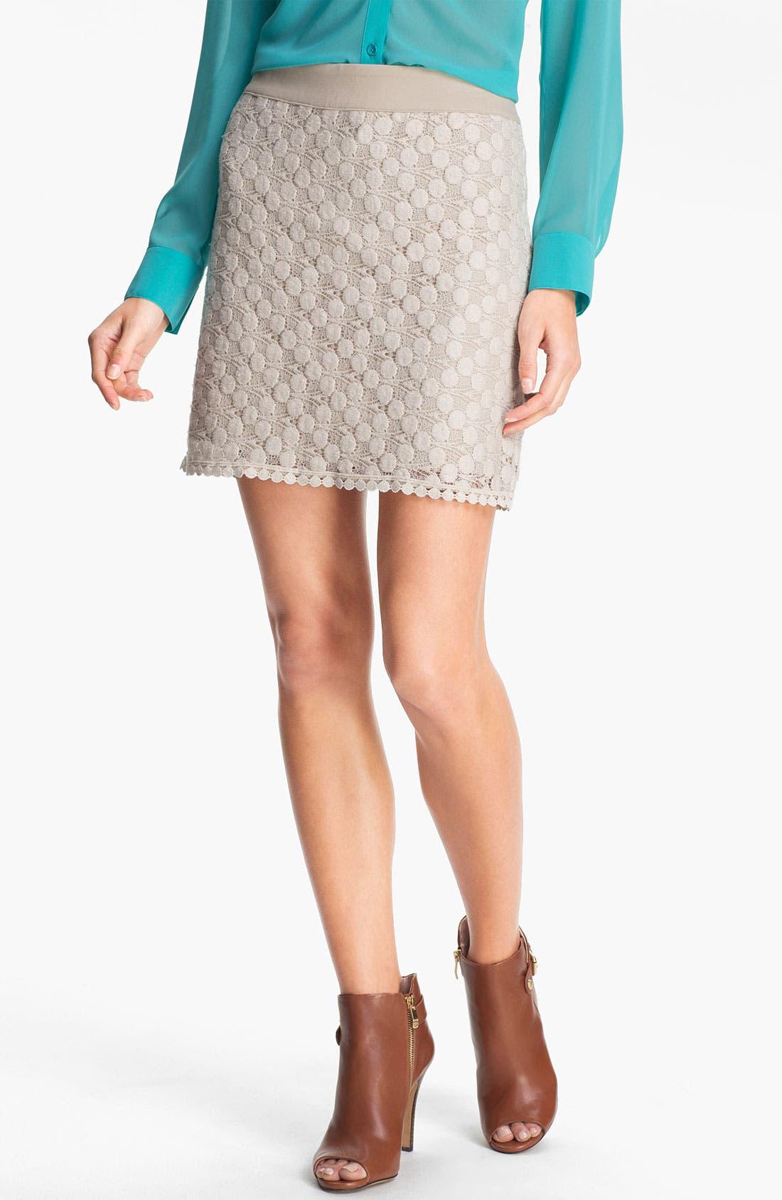 Main Image - Kensie Dot Lace Skirt