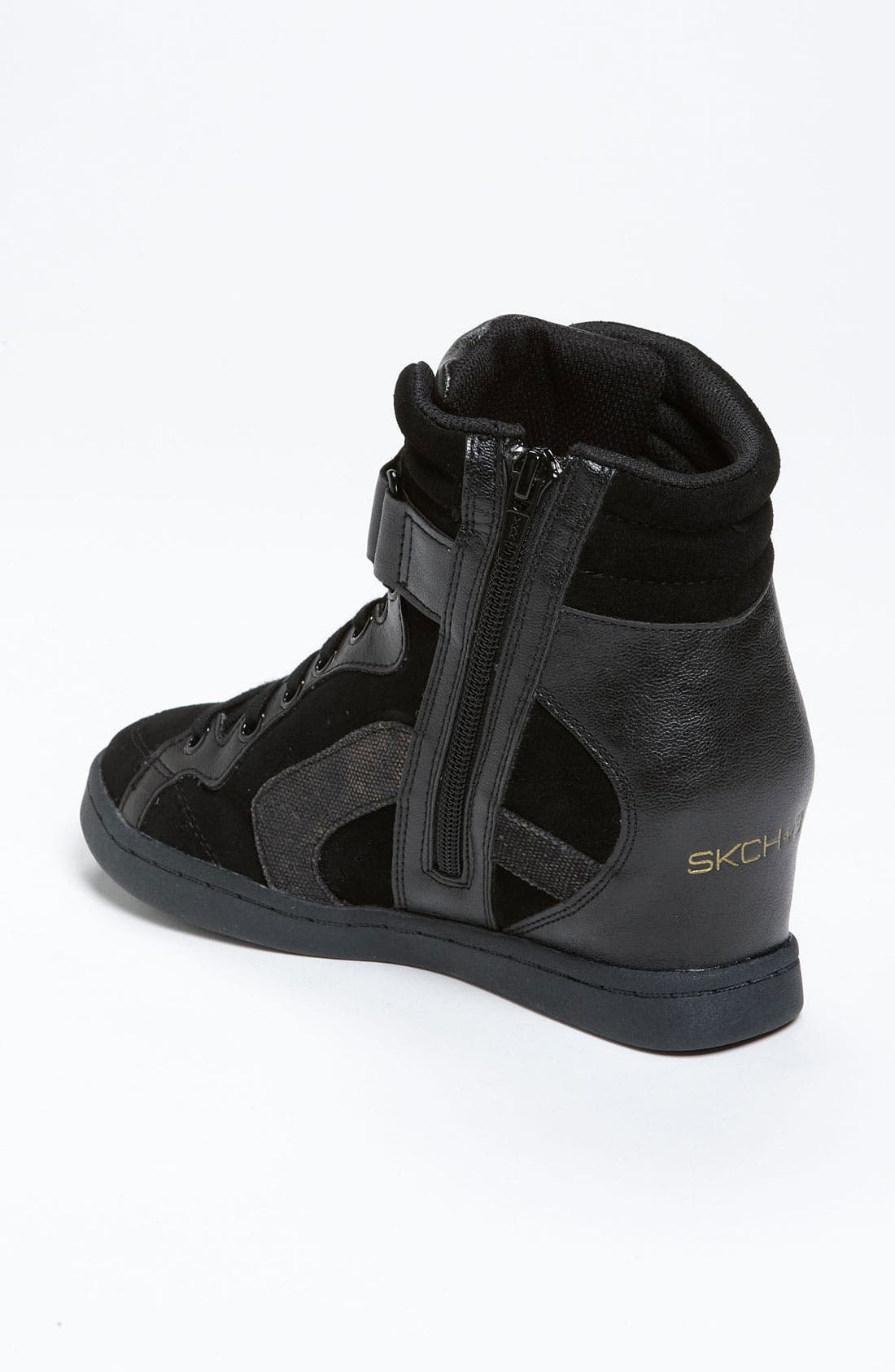 Alternate Image 2  - SKECHERS 'Three Booster' Wedge Sneaker (Women)