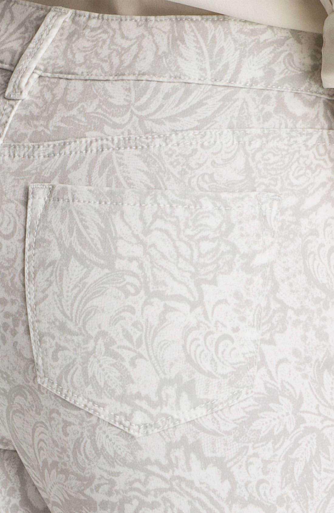 Alternate Image 2  - NYDJ 'Alisha' Print Skinny Stretch Ankle Jeans