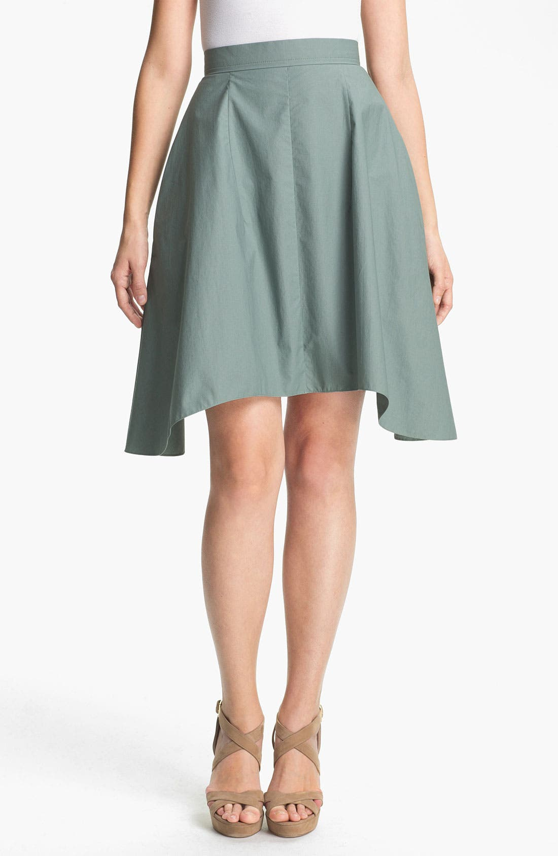 Main Image - Carven Asymmetrical Hem Poplin Skirt