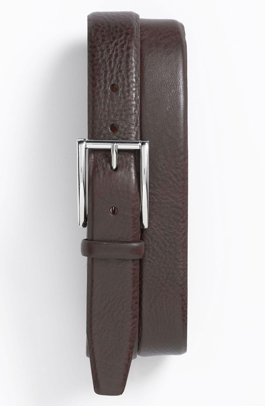 Main Image - Trafalgar Dome Strap Leather Dress Belt