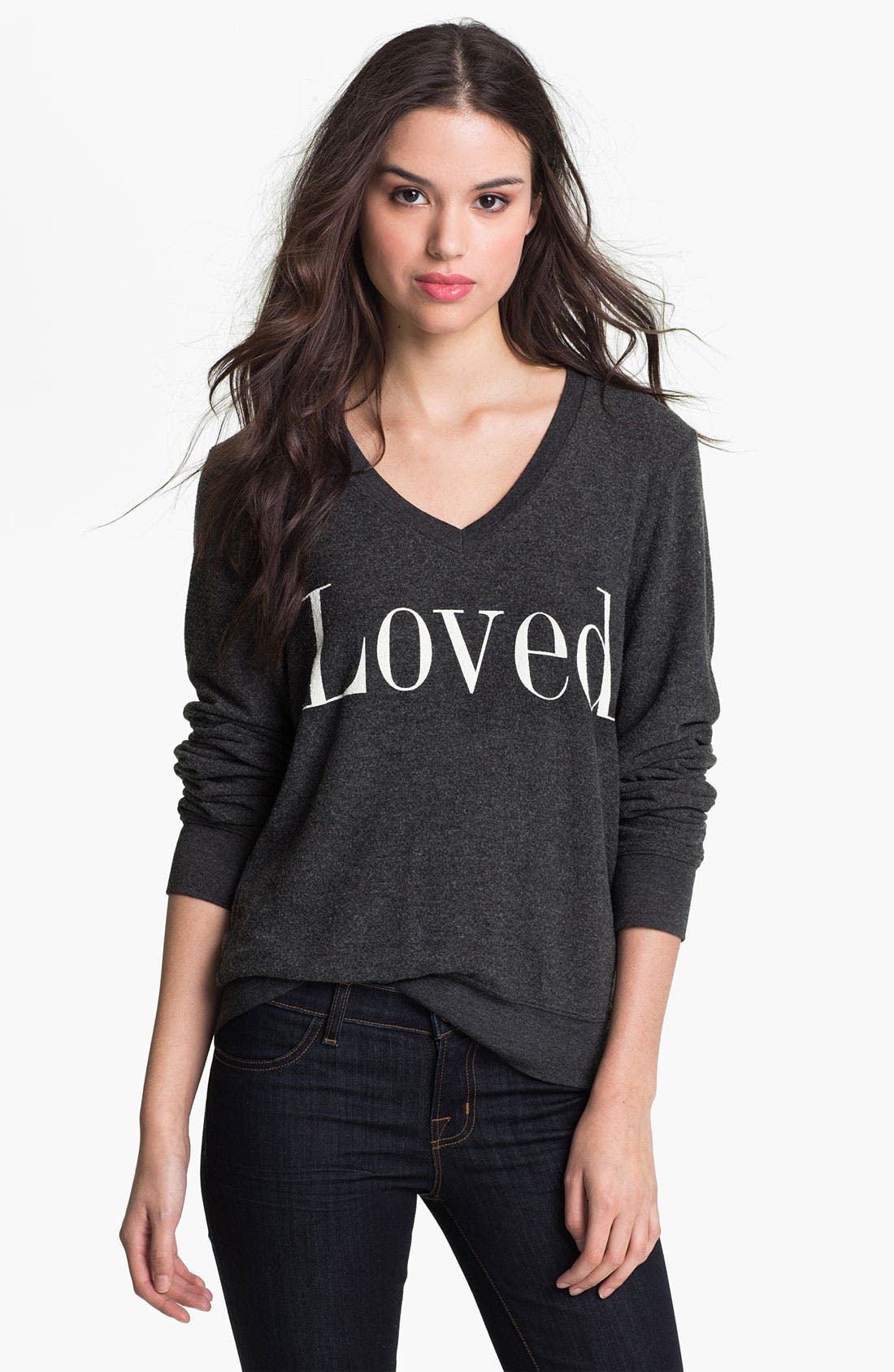 Alternate Image 1 Selected - Wildfox 'Loved' Graphic Sweatshirt