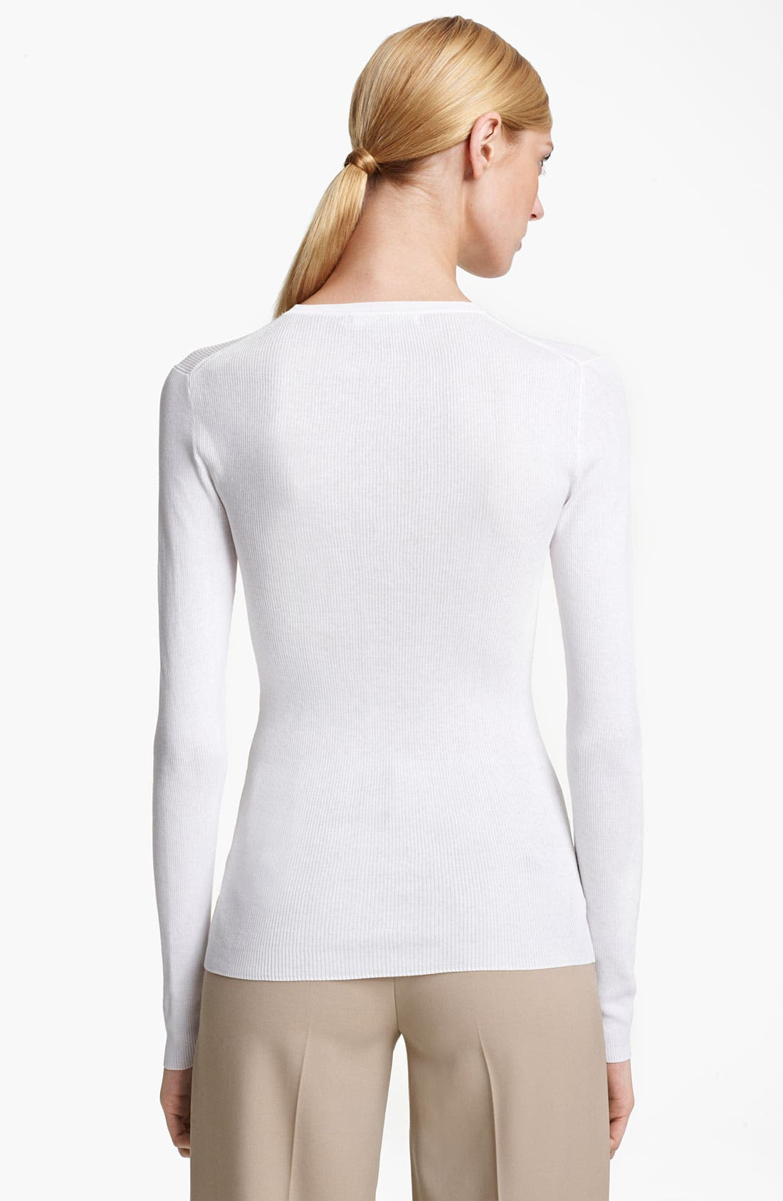 Alternate Image 2  - Michael Kors Featherweight Cotton Crewneck Top