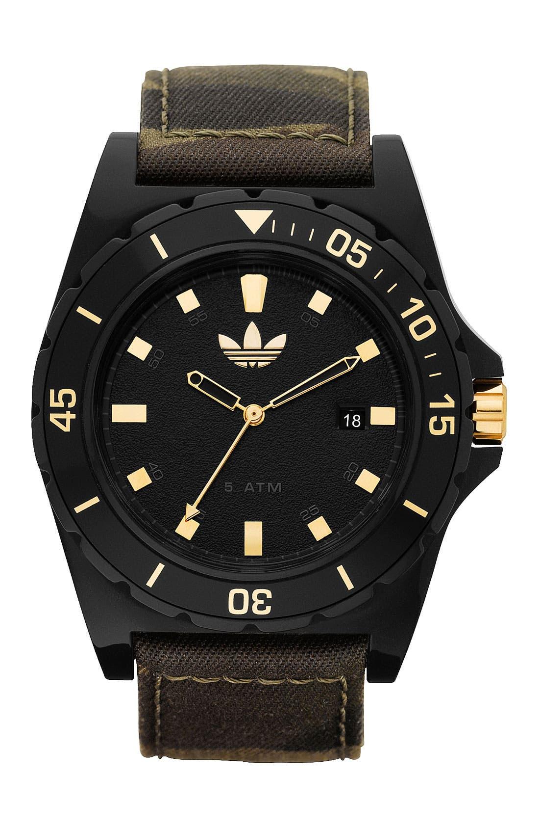 Alternate Image 1 Selected - adidas Originals 'Stockholm' Camo Strap Watch, 45mm