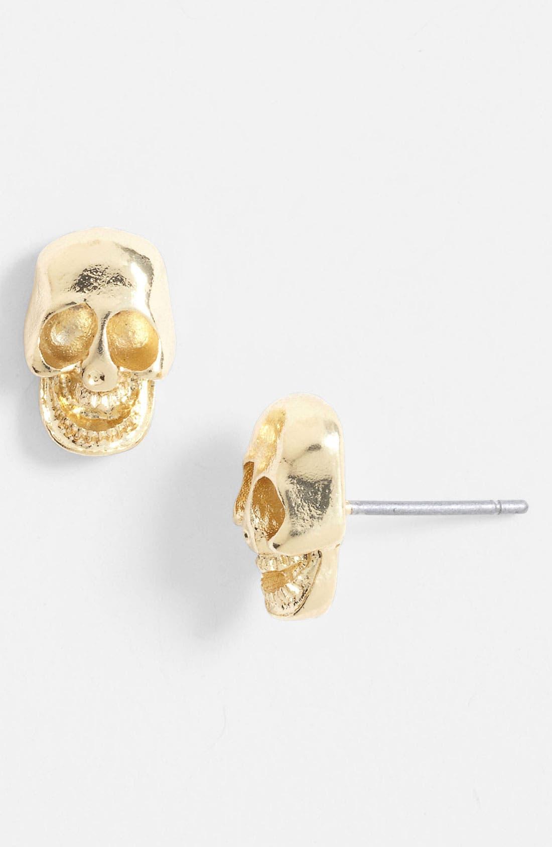 Alternate Image 1 Selected - Carole Skull Stud Earrings