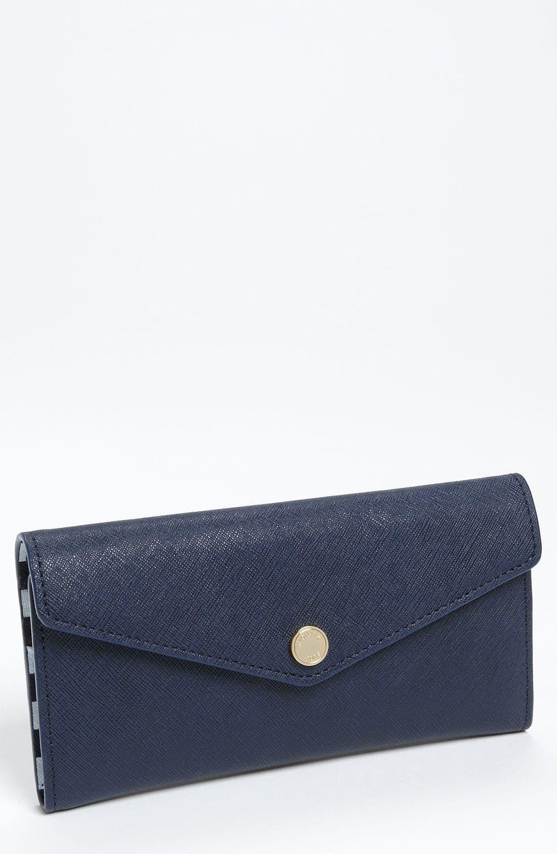 Main Image - MICHAEL Michael Kors Saffiano Carryall Wallet