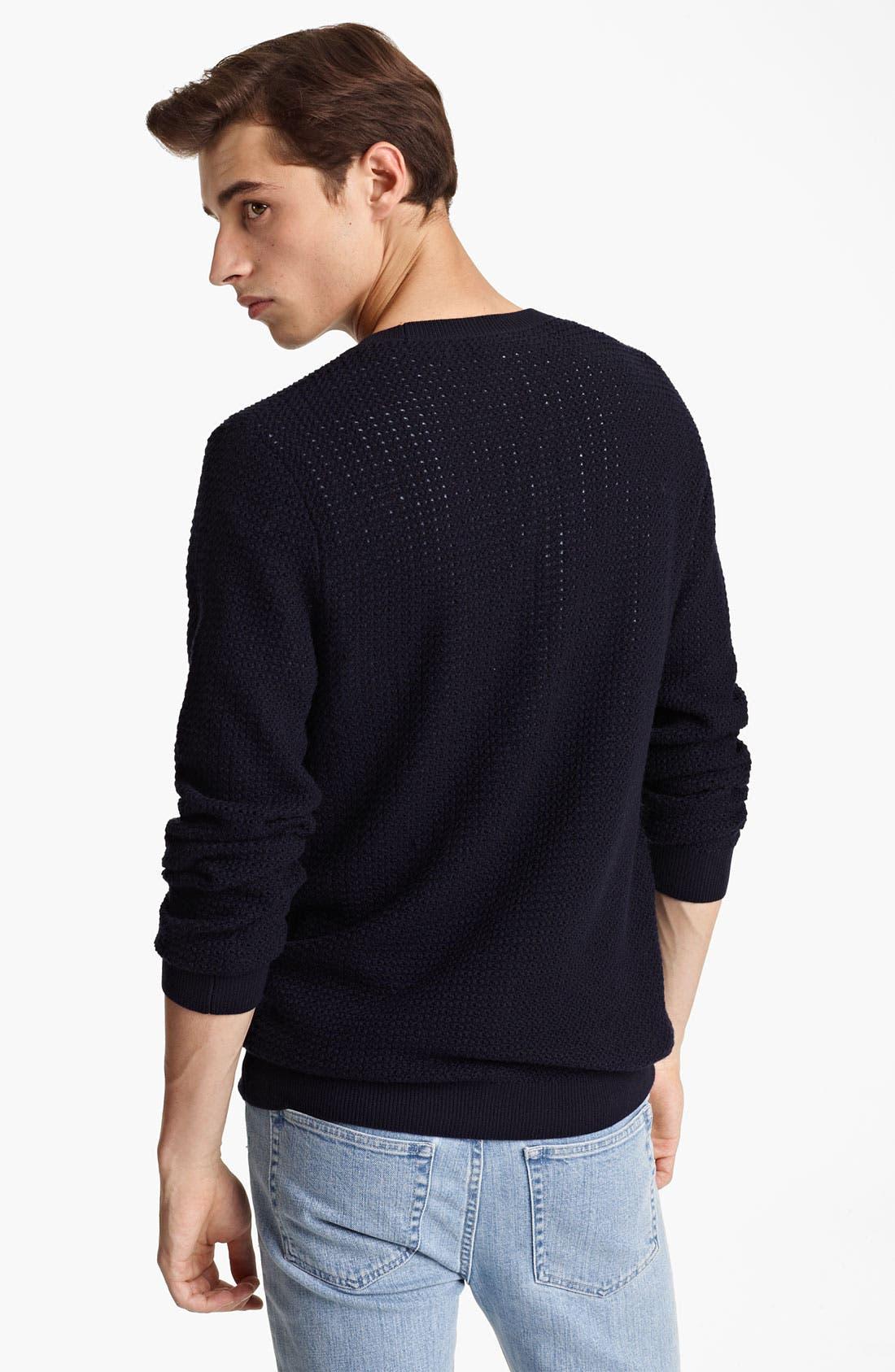 Alternate Image 2  - A.P.C. Perforated Crewneck Sweater