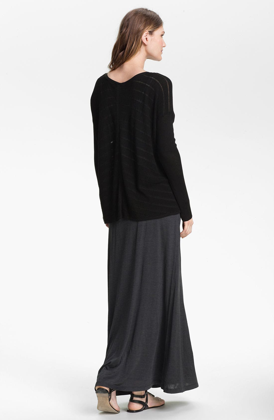 Alternate Image 5  - Eileen Fisher Stripe Knit V-Neck Top (Online Exclusive)