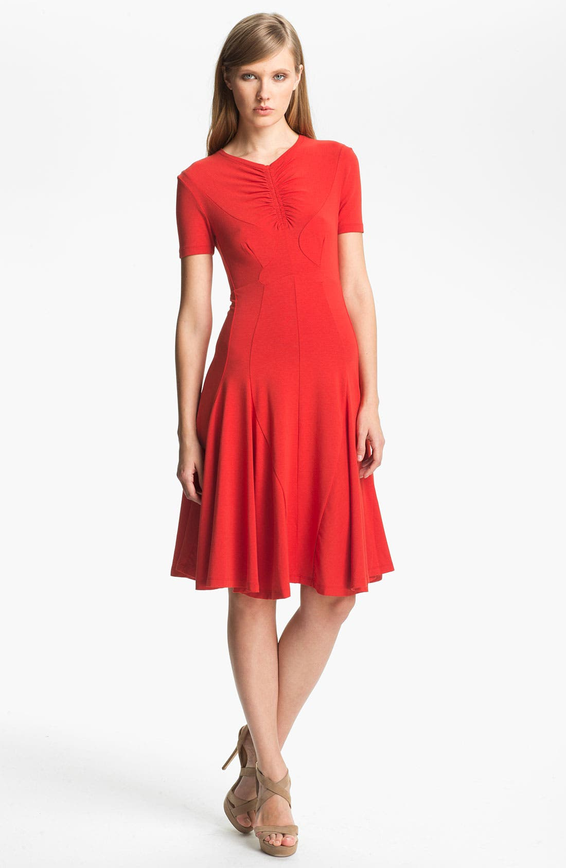 Alternate Image 1 Selected - Carven Ruched Detail Jersey Dress