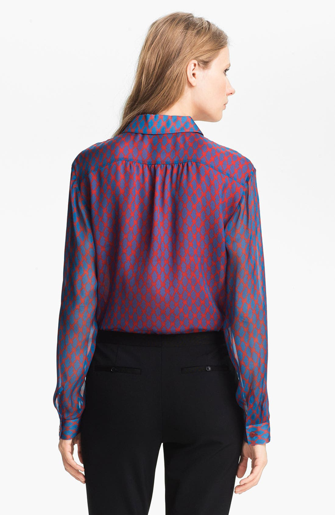 Alternate Image 4  - Miss Wu Geometric Print Chiffon Blouse (Nordstrom Exclusive)