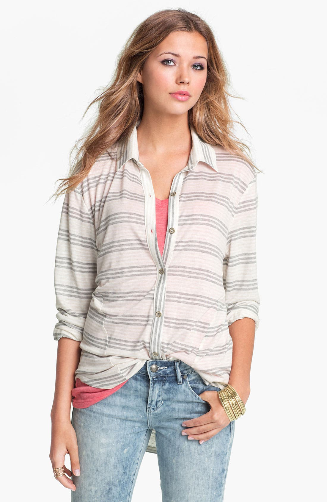 Alternate Image 1 Selected - Love on a Hanger Knit Shirt (Juniors)