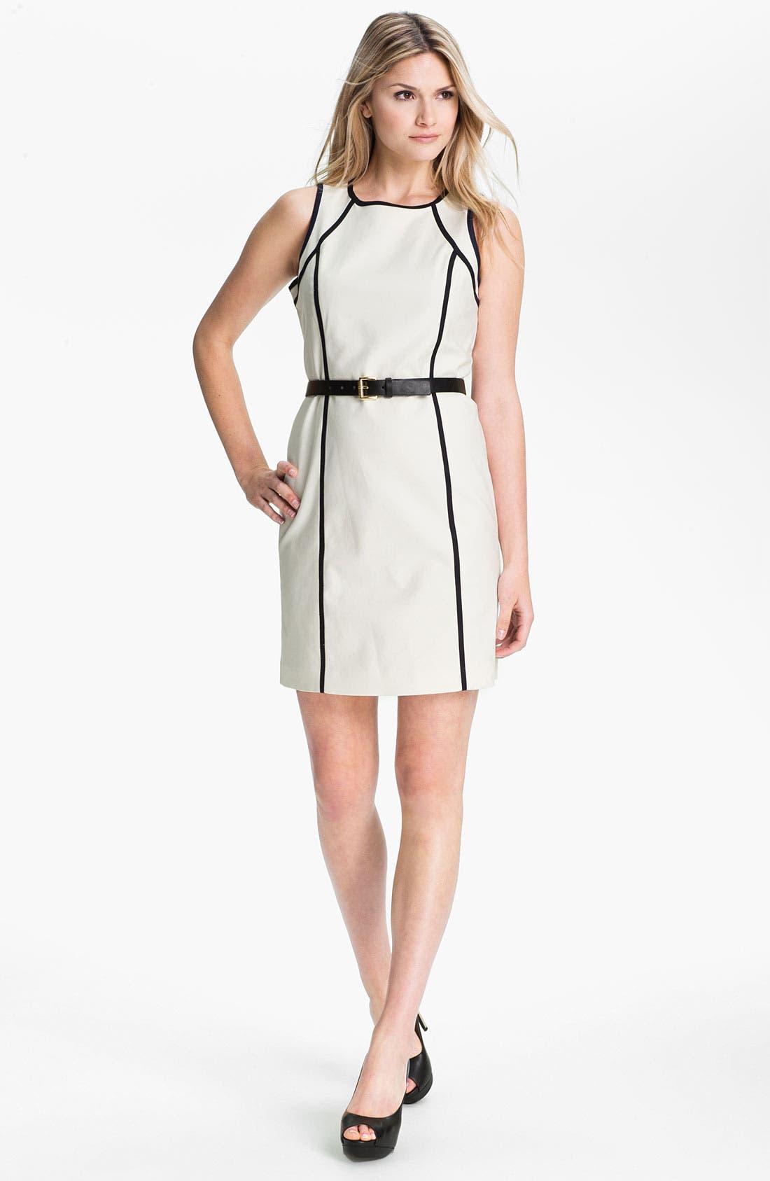 Alternate Image 1 Selected - MICHAEL Michael Kors Sleeveless Scuba Dress (Petite)