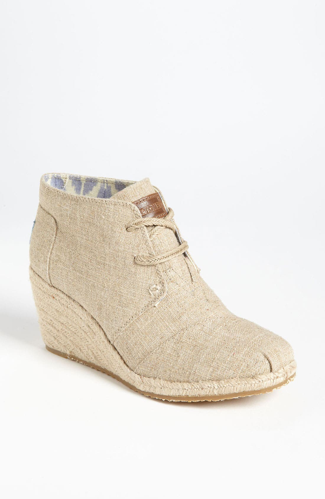 Alternate Image 1 Selected - TOMS 'Desert' Burlap Wedge Bootie
