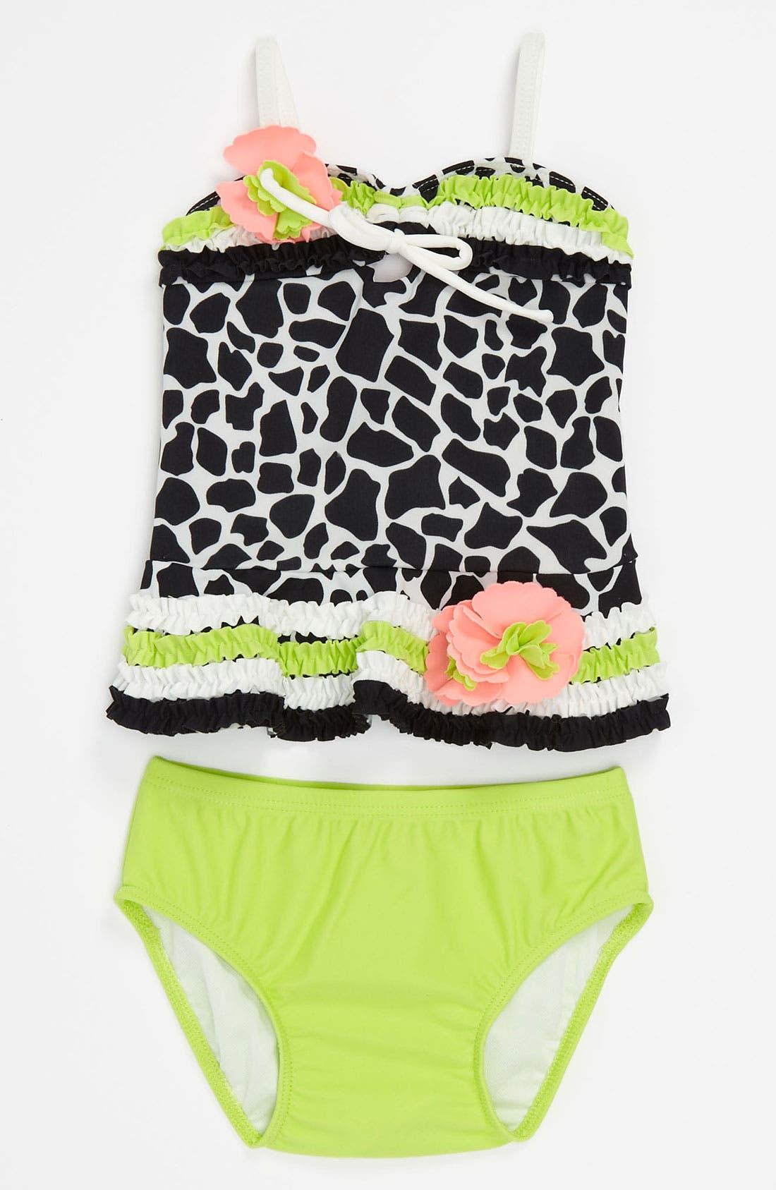 Alternate Image 1 Selected - Isobella & Chloe 'Safari Print' Two Piece Swimsuit (Infant)