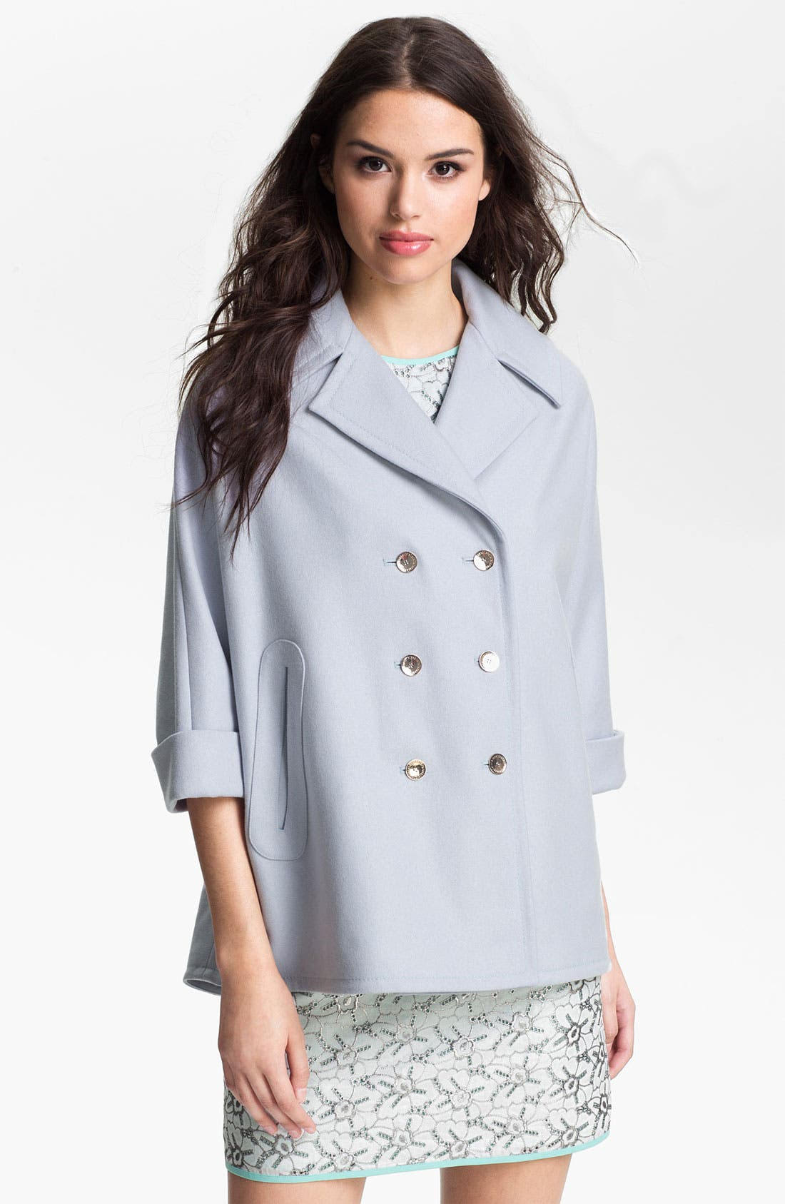 Main Image - Ted Baker London Double Breasted Cape (Online Only)