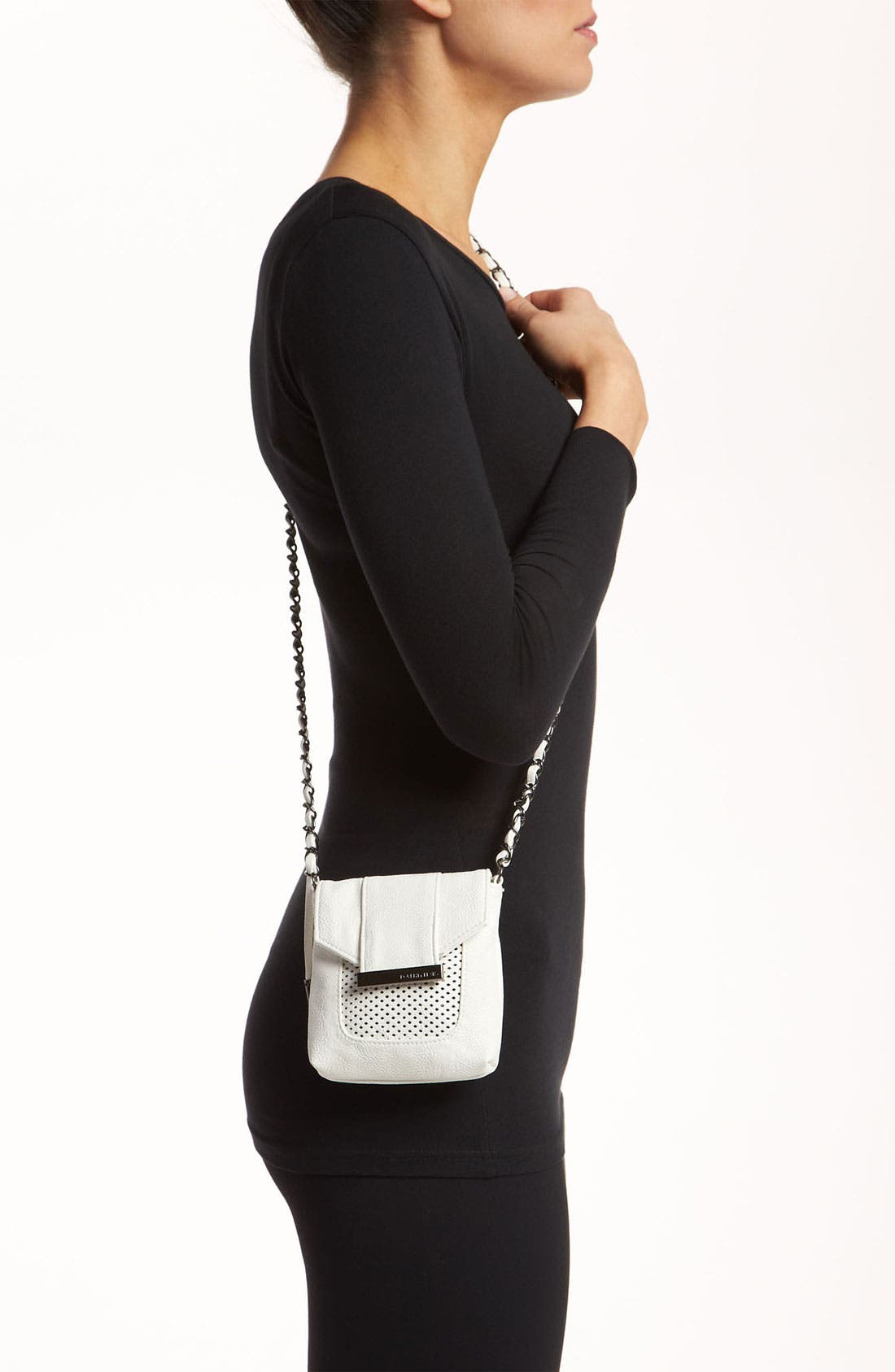 Alternate Image 2  - POVERTY FLATS by rian 'Mesh Detail - Mini' Crossbody Bag
