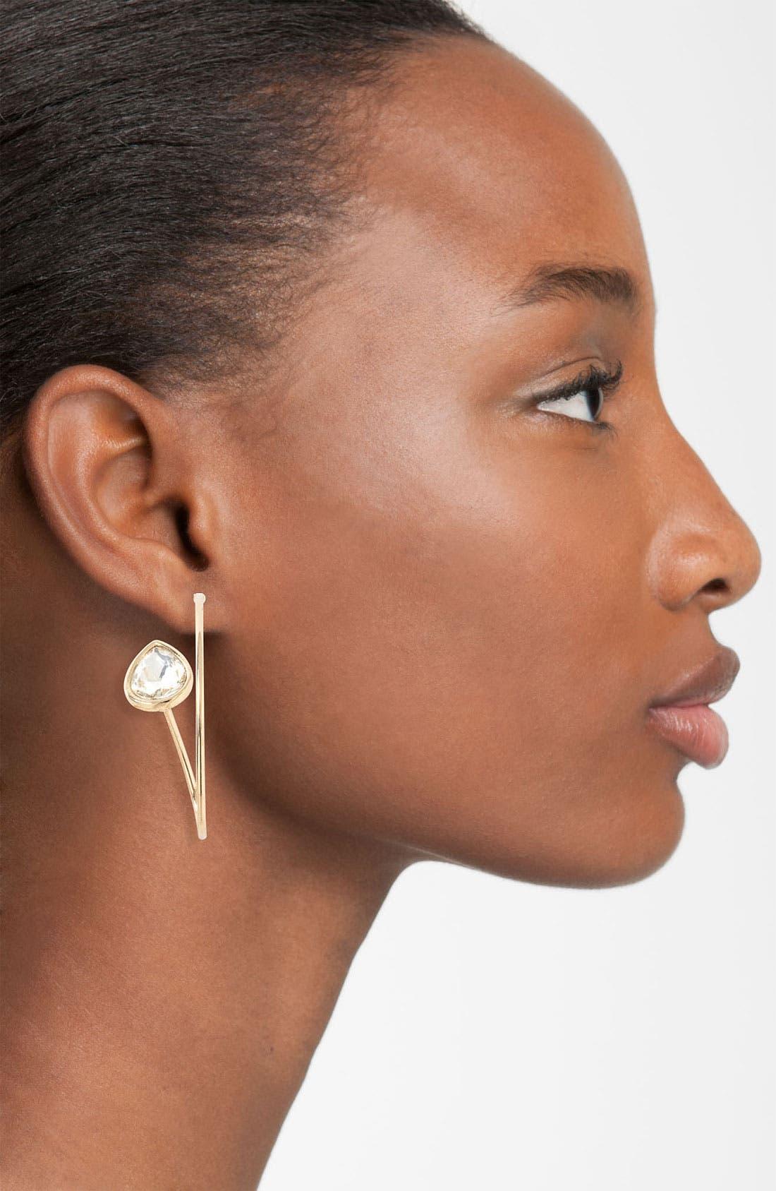 Alternate Image 2  - Adia Kibur Wire Loop Earrings