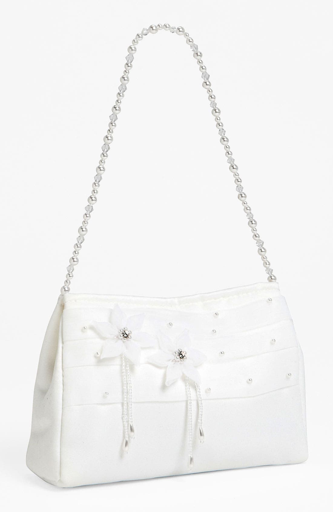 Alternate Image 1 Selected - Adriana Cupelli Beaded Satin Purse (Girls)