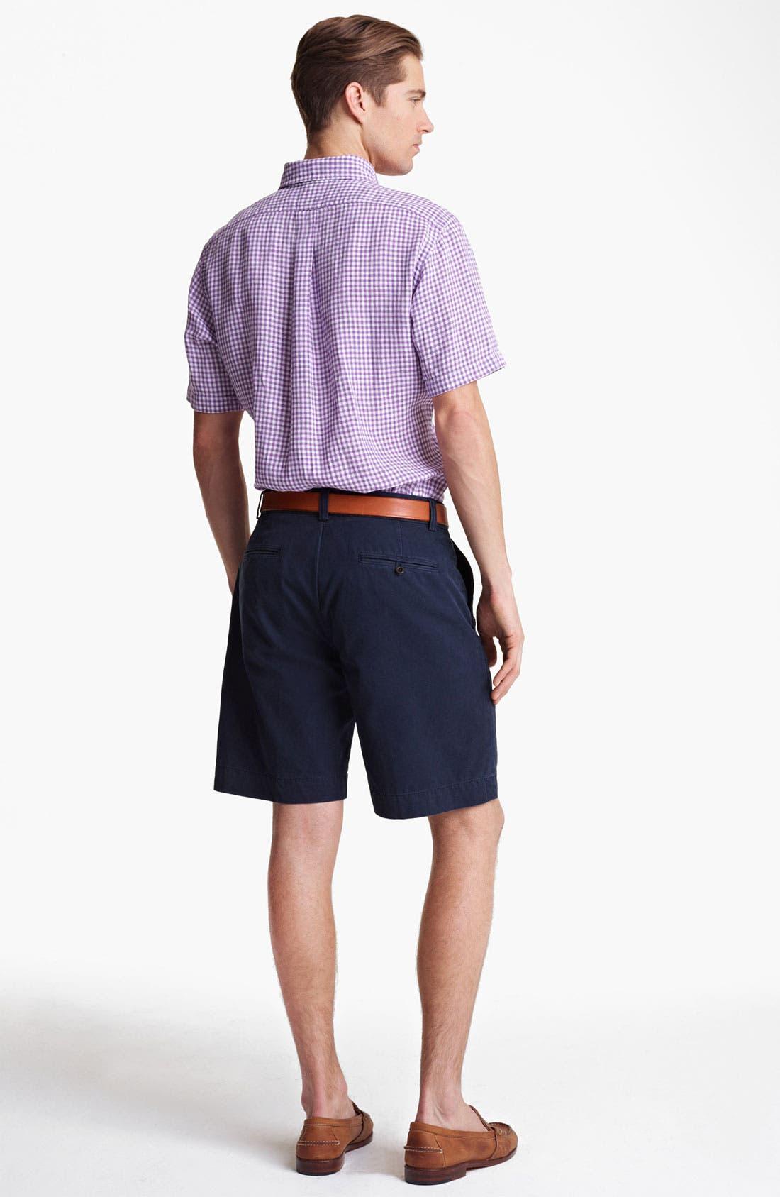 Alternate Image 5  - Polo Ralph Lauren Classic Fit Short Sleeve Linen Sport Shirt