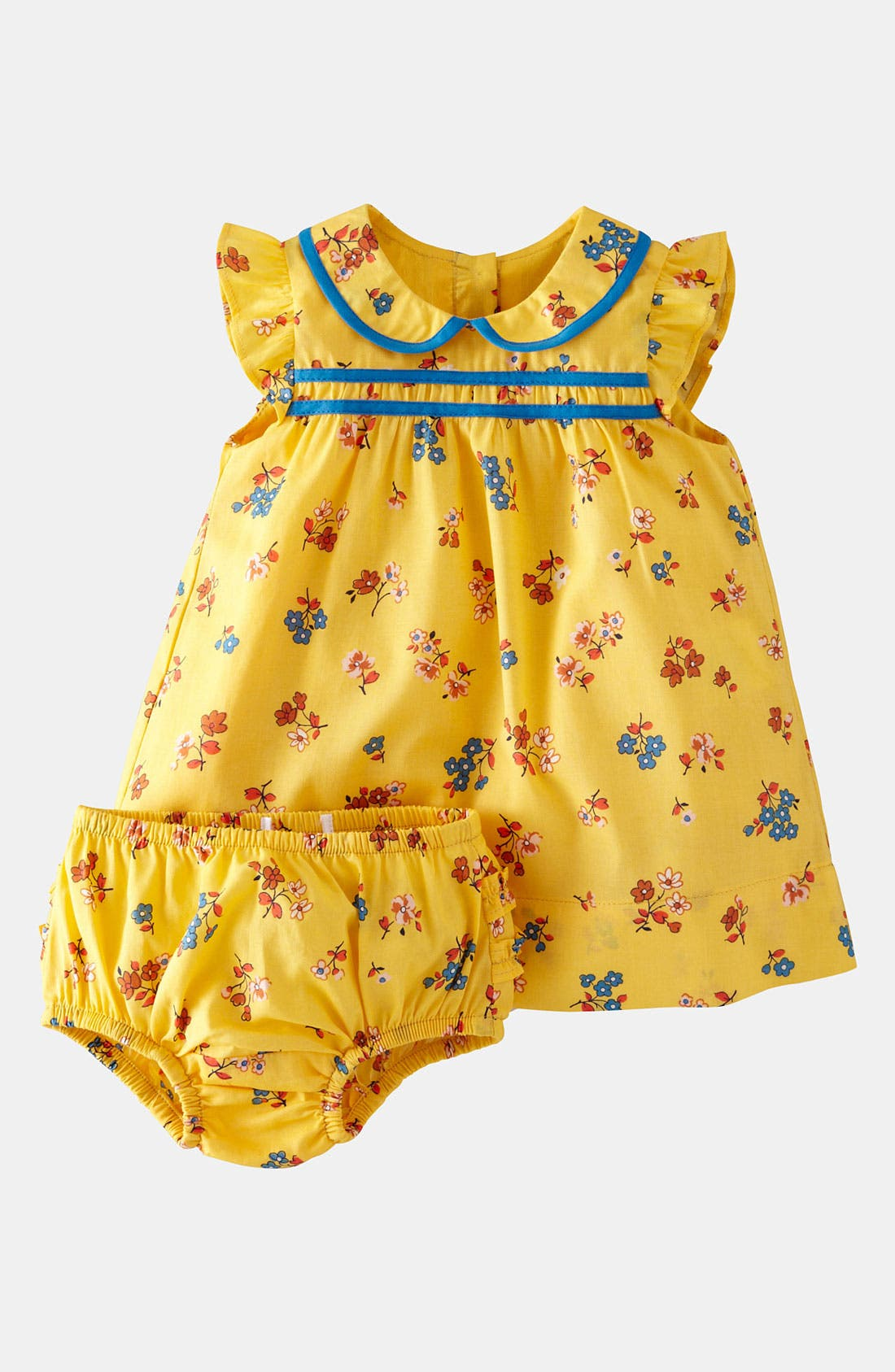 Alternate Image 1 Selected - Mini Boden 'Pretty Tea' Dress & Bloomers (Infant)