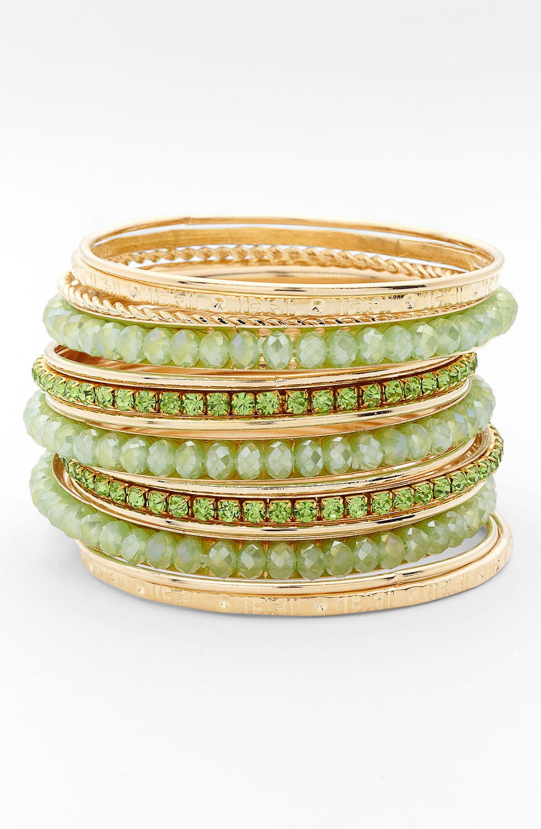 Alternate Image 1 Selected - Cara Mixed Media Bangles (Set of 16)