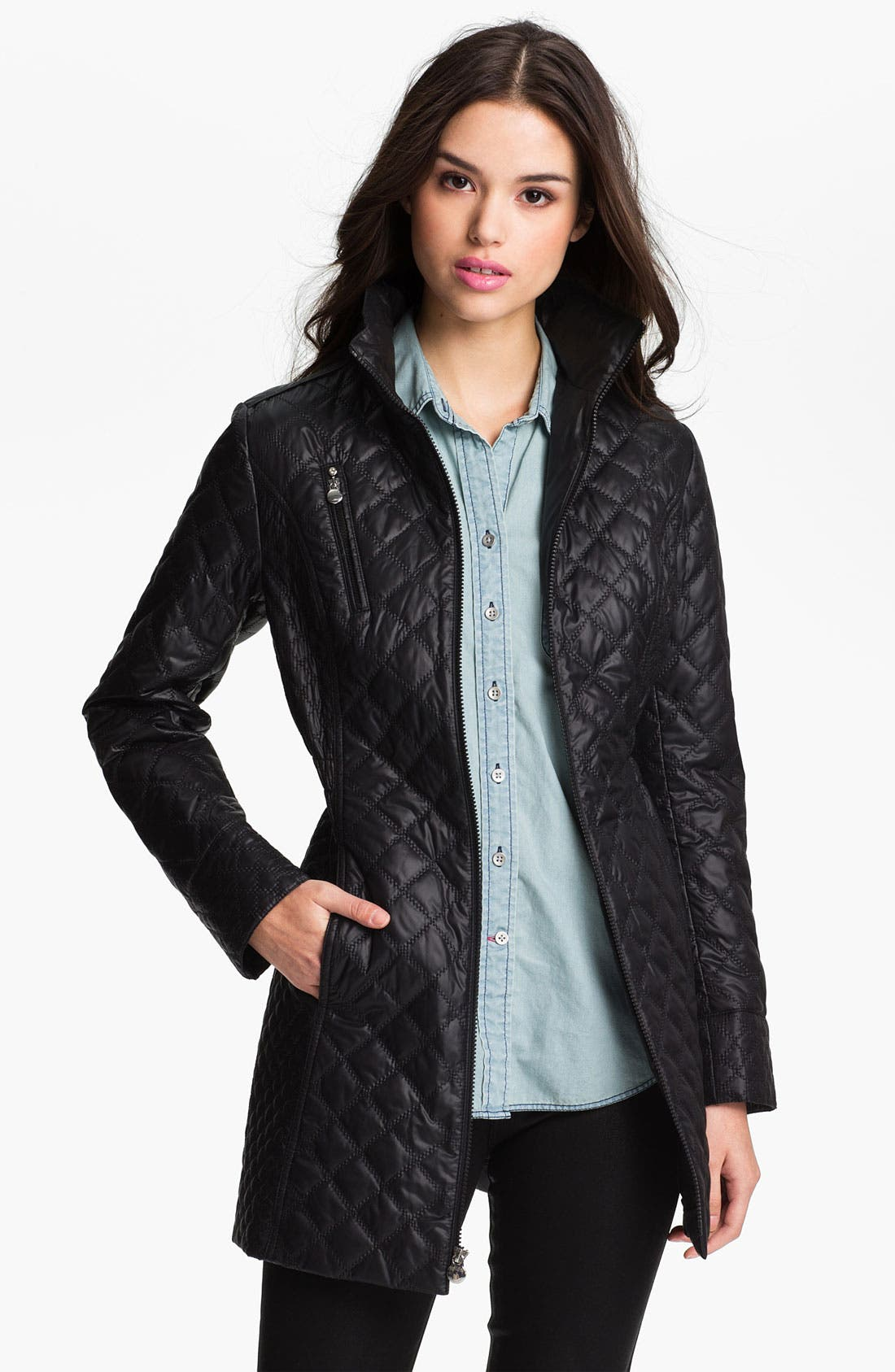 Alternate Image 1 Selected - Laundry by Shelli Segal Packable Quilted Coat