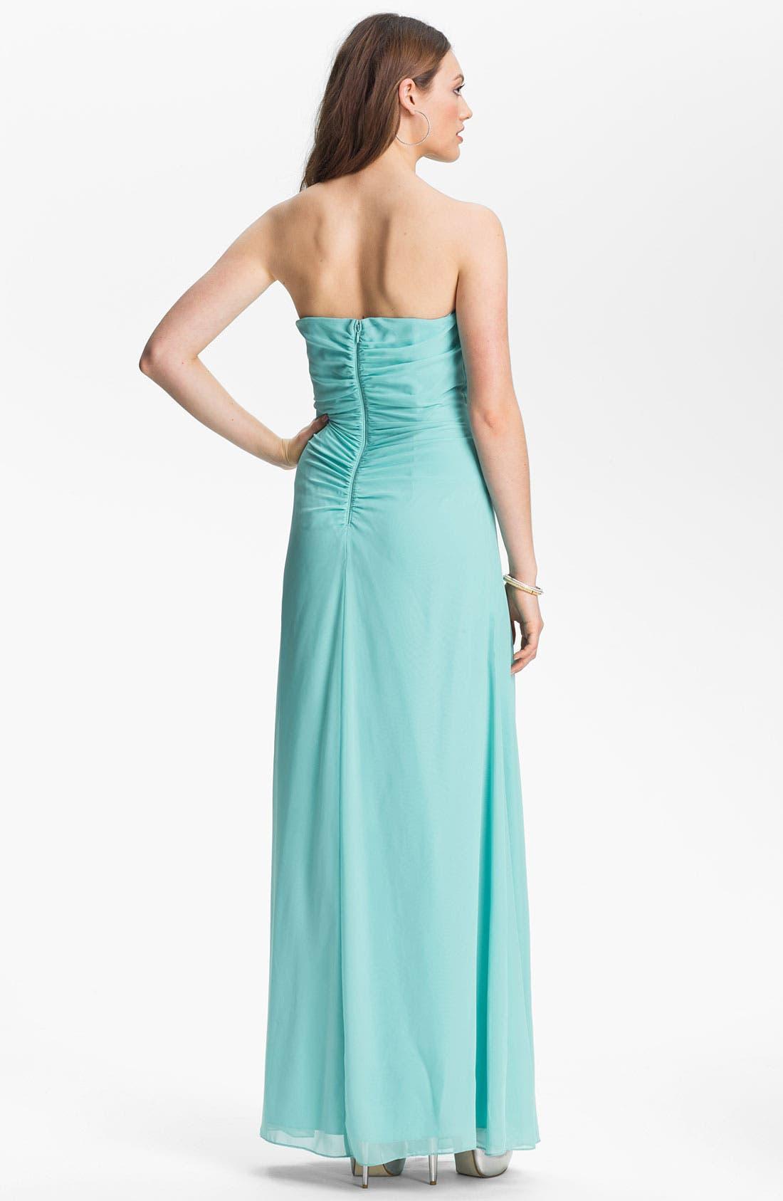 Alternate Image 2  - Hailey by Adrianna Papell Jeweled Chiffon Dress