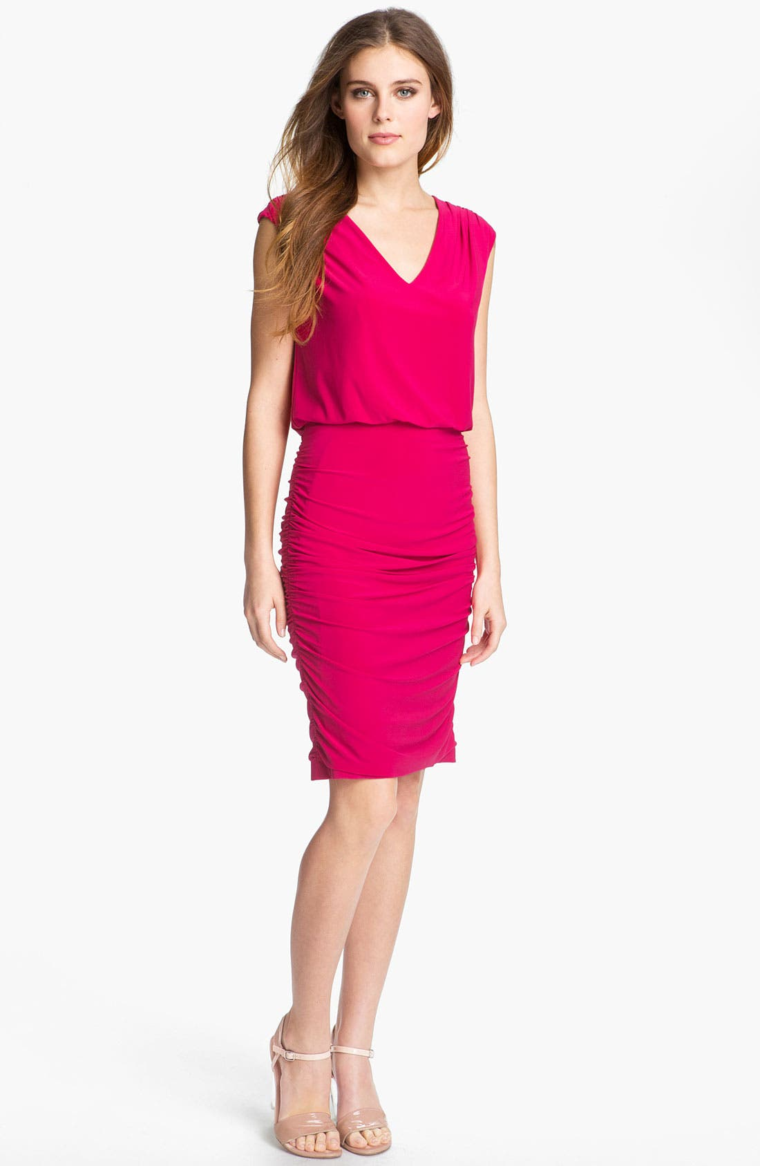 Main Image - Adrianna Papell Blouson Jersey Sheath Dress