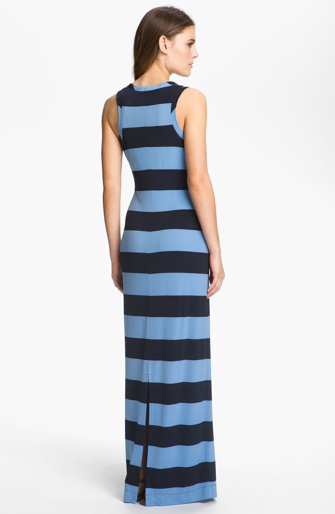 Alternate Image 2  - Donna Morgan Sleeveless Stripe Maxi Dress