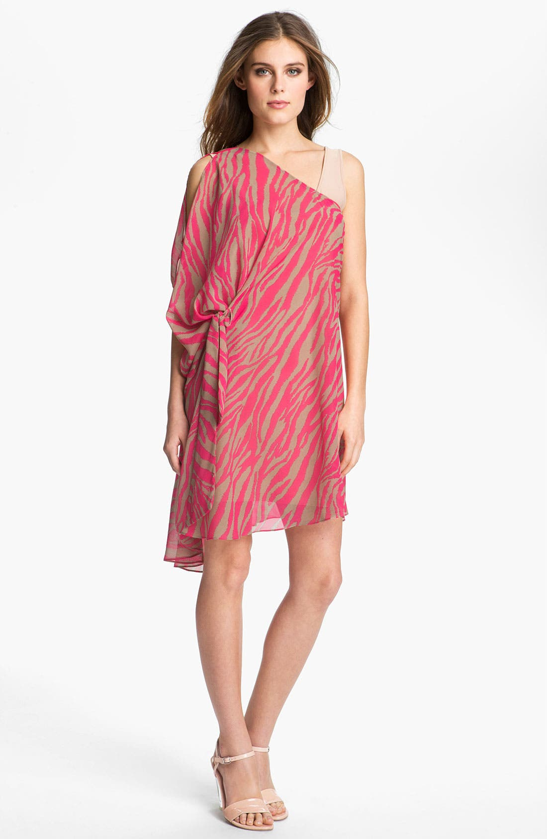 Alternate Image 2  - Abi Ferrin 'Greta' Convertible Print Chiffon Dress