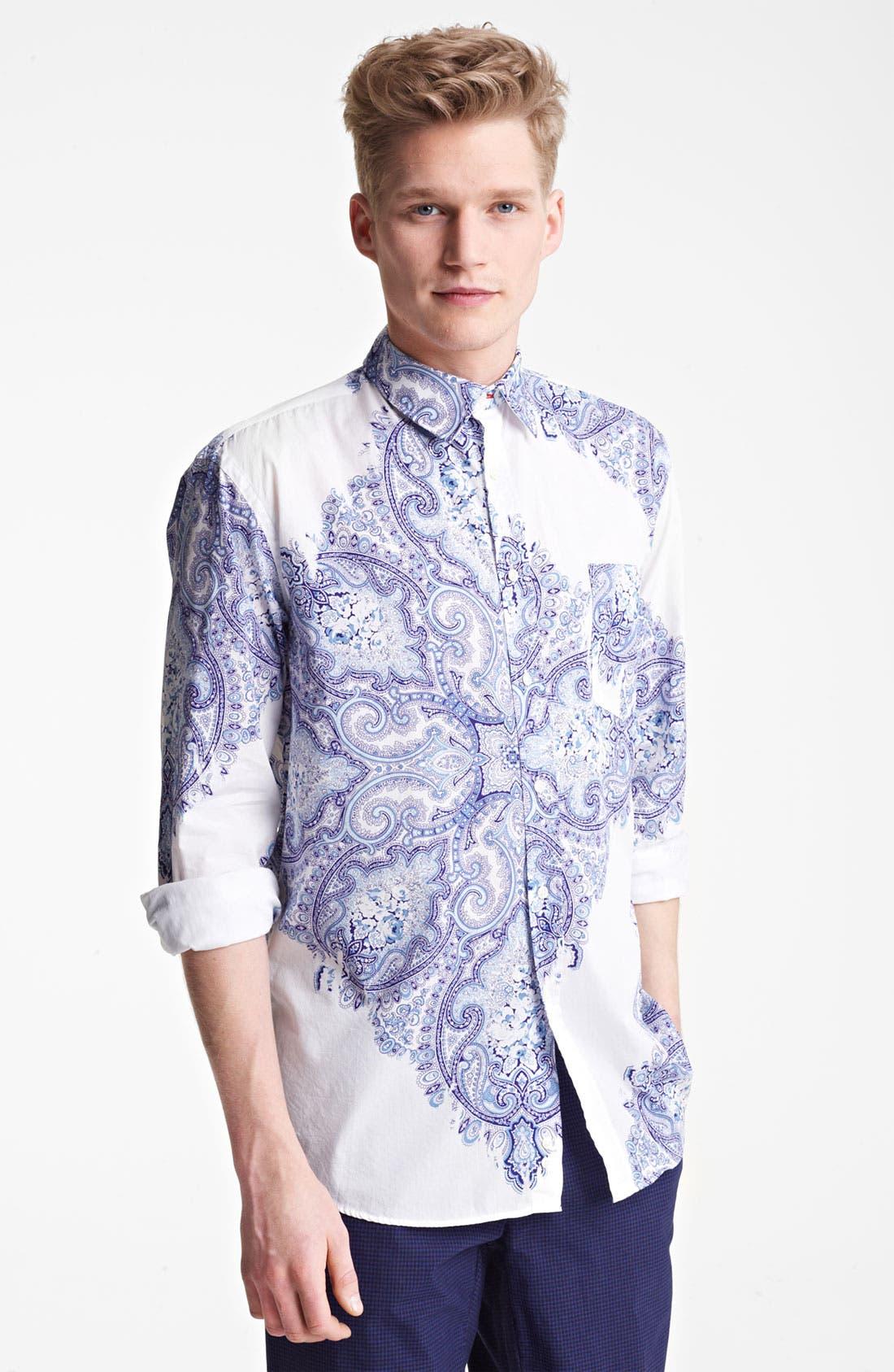 Alternate Image 1 Selected - Mason's Paisley Print Woven Shirt