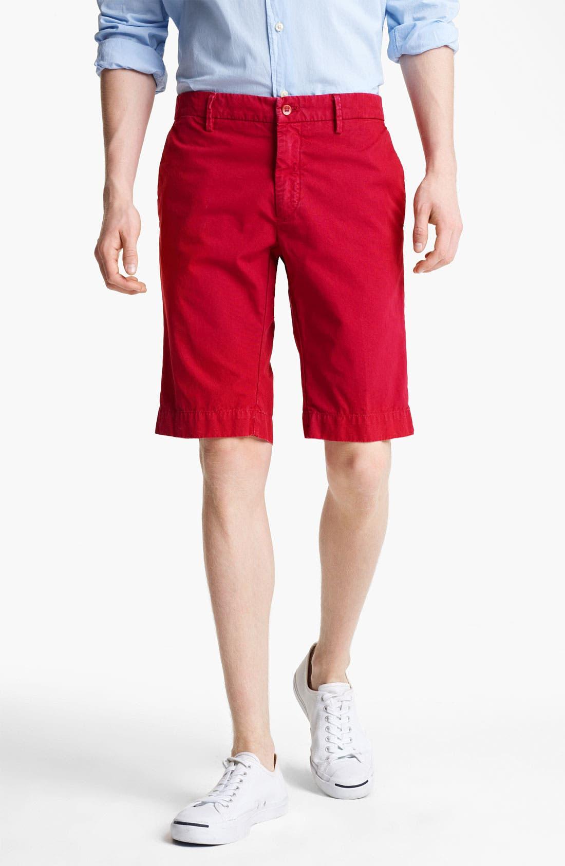 Main Image - Mason's New York Fit Cotton Shorts