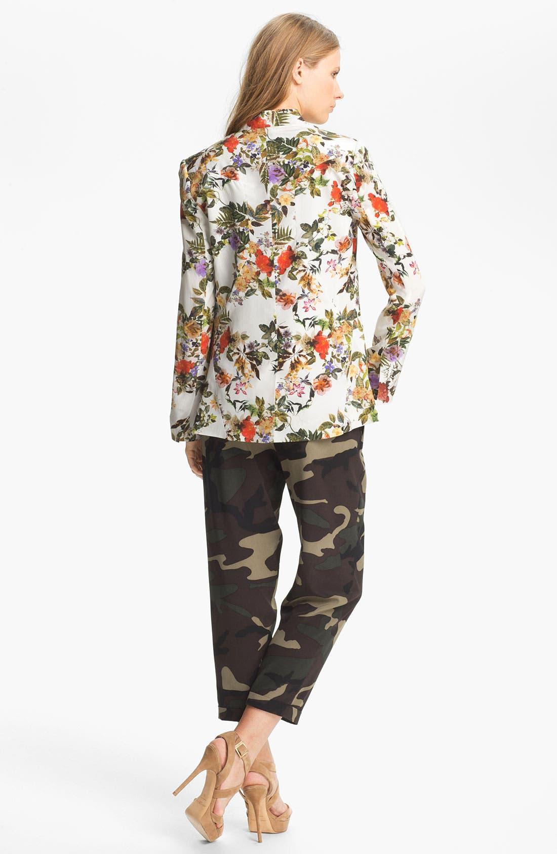 Alternate Image 4  - Haute Hippie Floral Print Silk Blazer