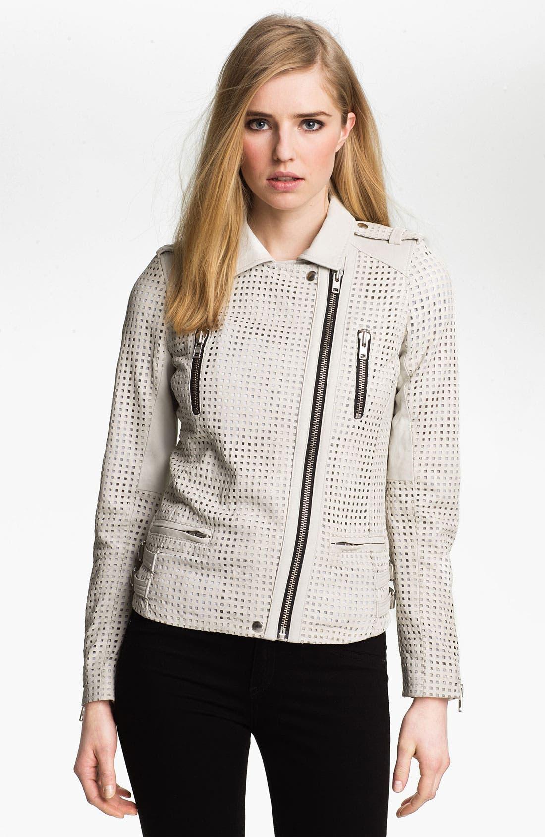 Alternate Image 2  - IRO Asymmetrical Zip Leather Moto Jacket