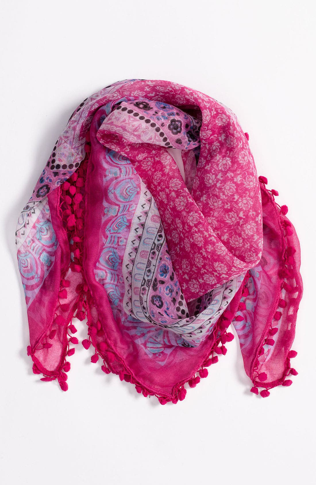 Alternate Image 1 Selected - Tarnish Pom Trim Scarf