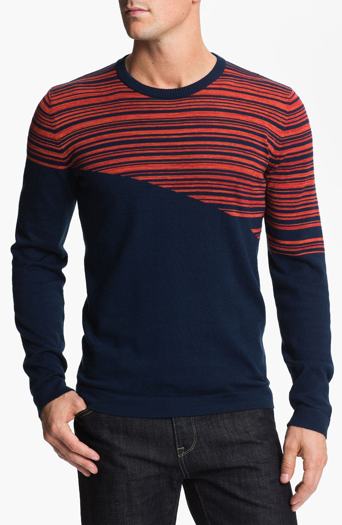 Alternate Image 1 Selected - HUGO 'Salamis' Crewneck Sweater