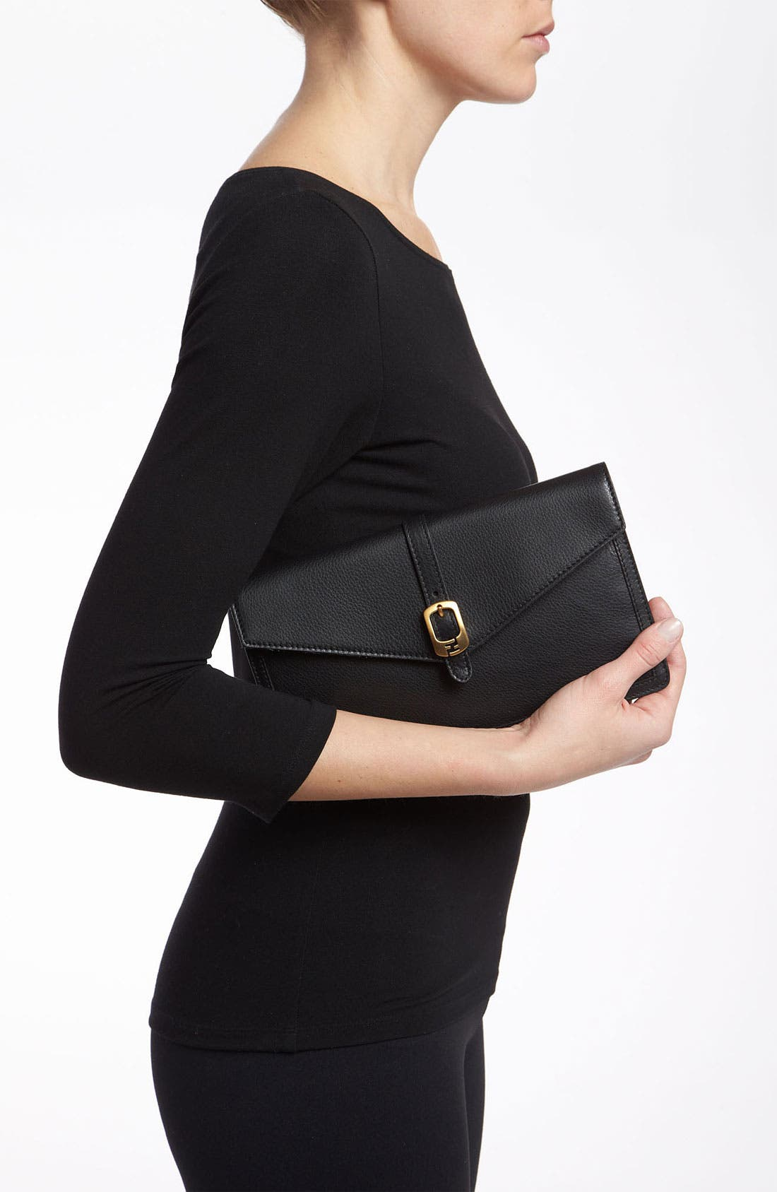 Alternate Image 2  - Fendi Leather Envelope Clutch